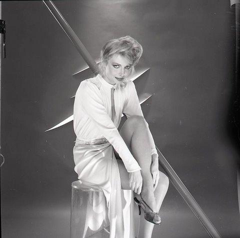 Cindy Morgan on the set of Tron (1982) : OldSchoolCool